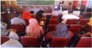 hadirin yang  menghadiri sosialisasi empat pilar yang diisi anggota Komisi IV DPR RI Endang Srikarti Handayani