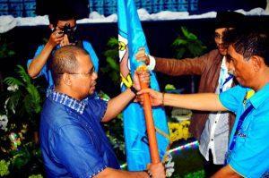 Ketua Umum DPP KNPI 2015-2018 Muhammad Rifai Darus saat pelantikan