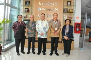 Bamsoet saat melakukan media visit ke Kompas Gramedia Grup, di Menara Kompas, Jakarta, Kamis (12/12/19).