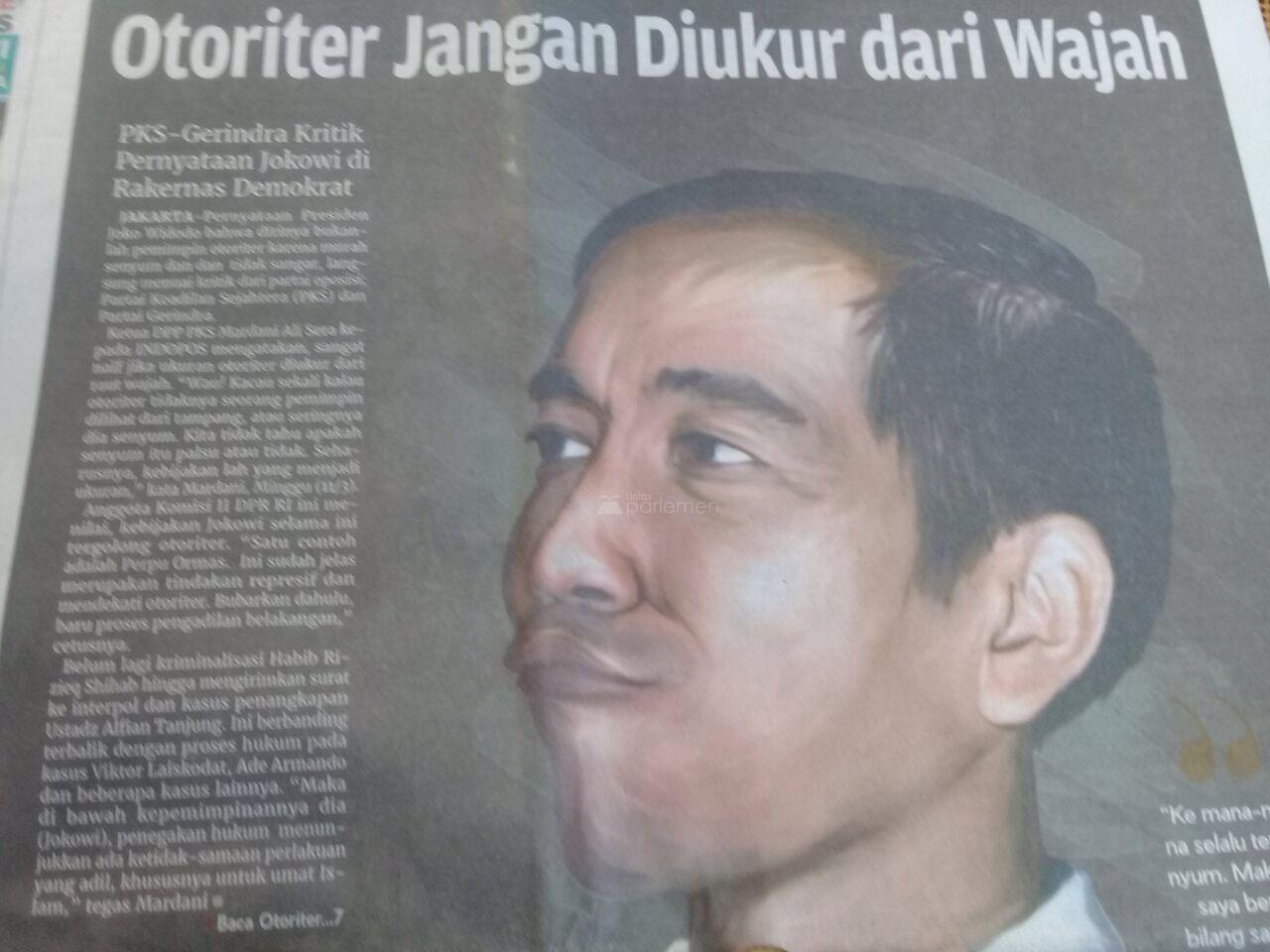 "HEADLINE KORAN INDOPOS ""OTORITER JANGAN DIUKUR DARI WAJAH"